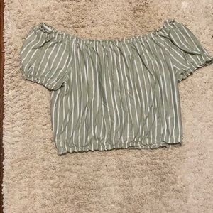 American eagle bubble sleeve top